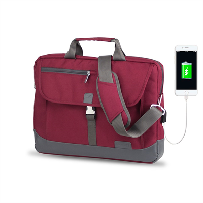 My Valice Smart Bag OXFORD Usb Şarj Girişli 15.6 Notebook Çantası MV8848 Bordo