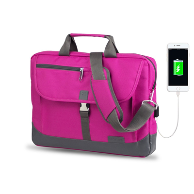 My Valice Smart Bag OXFORD Usb Şarj Girişli 15.6 Notebook Çantası MV8848 Pembe